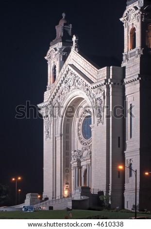 St Paul's Cathedral - St Paul, MN - stock photo