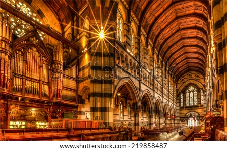 St Pauls Cathedral Melbourne - stock photo