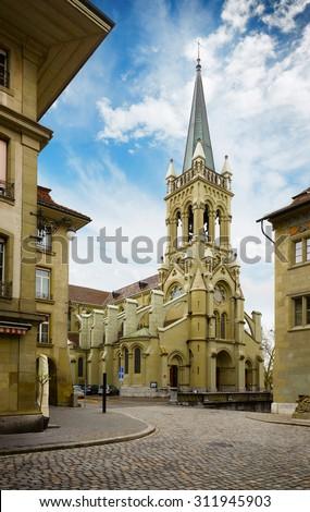 St. Peter and Paul church in Bern, Switzerland - stock photo