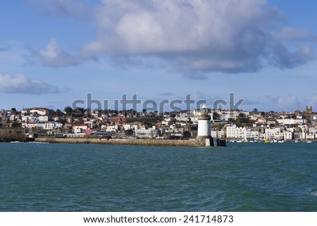 St. Peter Port  Guernsey, Channel Islands - stock photo