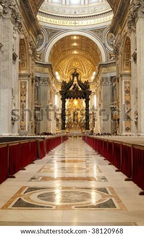 St. Peter's Basilica in Vatican (Basilica Papale di San Pietro) - stock photo