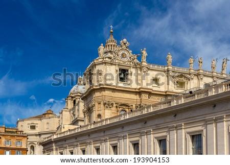 St. Peter's Basilica in Vatican City - stock photo