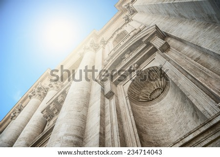 St Peter's Cathedral at Vatican City, Italy - stock photo