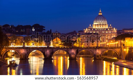 St. Peter's cathedral in Rome, Italy - stock photo