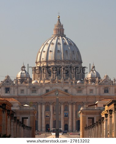 St. Peter's Cathedral, Vatican - stock photo