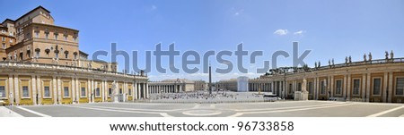 St. Peter's Square. Vatican. panorama - stock photo