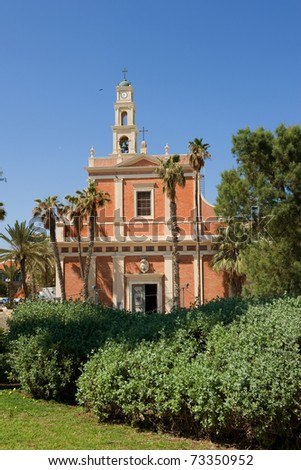 St. Peters Church in the old city of Jaffa in Tel Aviv, Israel - stock photo