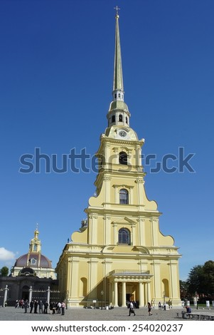 St. Petersburg, the Cathedral of Saints Peter and Paul in the Peter and Paul fortress - stock photo