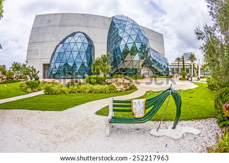 ST. PETERSBURG, USA - JULY 25, 2013: Exterior of Salvador Dali Museum in St. Petersburg, FL, USA. The museum has one of the largest collection of works of Salvador Dali in the world. - stock photo