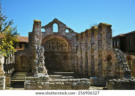 St.Sophia Church. Old Metropolitan Church. Nessebar, Bulgaria - stock photo