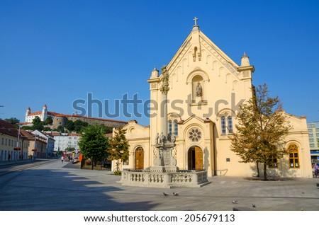 St. Stephen's Church Bratislava - stock photo