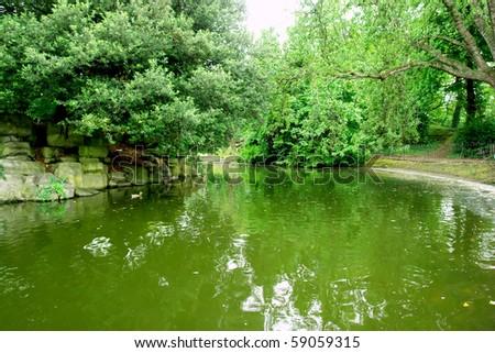St Stephen's Green park in Dublin - stock photo