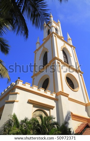 St. Thomas Cathedral was the first Anglican church in Mumbai - stock photo