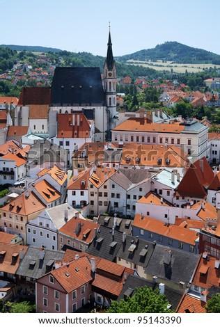 St. Vitus cathedral in Cesky Krumlov, Czech Republic - stock photo