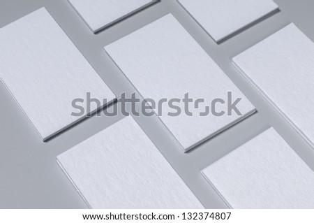 Stack Blank Letterpress Business Cards - stock photo