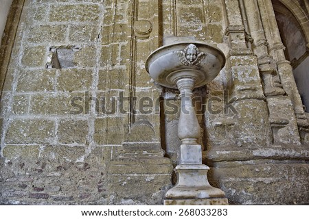 Stack Christening located in a disused church built in 1615. - stock photo