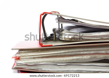 stack file Office folder on white background - stock photo