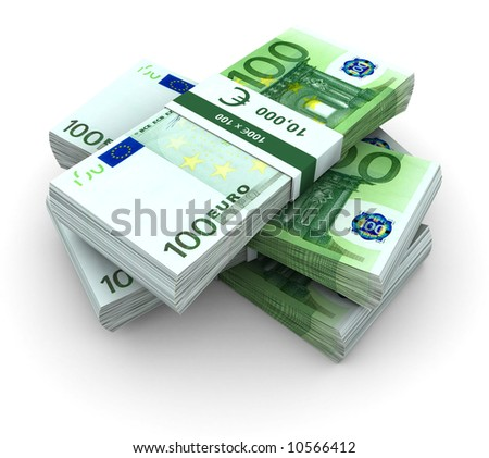 Stack of  100€ bills - stock photo