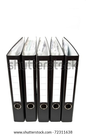 Stack of binders - stock photo