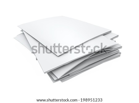 Stack of Blank Magazines - stock photo