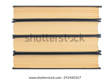 stack of books close up for background; isolated - stock photo
