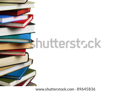 Stack of books. education concept - stock photo