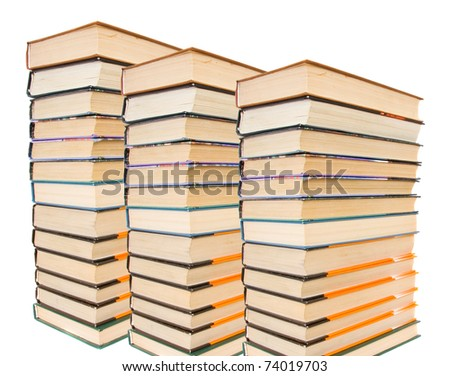 Stack of books isolated - stock photo