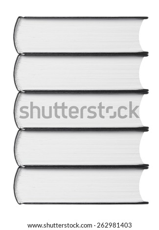 stack of books on a white background - stock photo