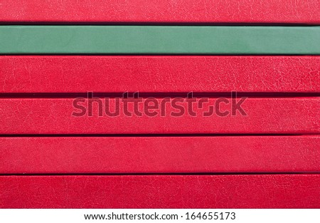 Stack of books spines - background and copyspace - stock photo