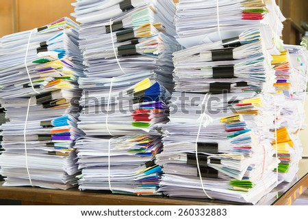 Stack of business papers - stock photo