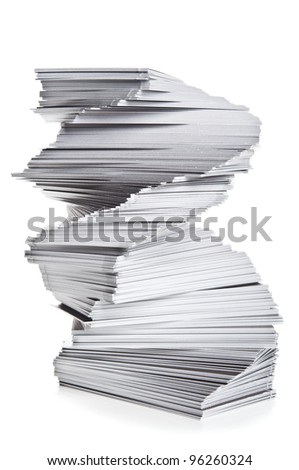 stack of cards isolated on a white background - stock photo