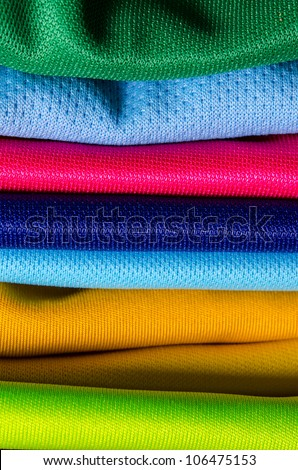 stack of color cloth close up shot - stock photo