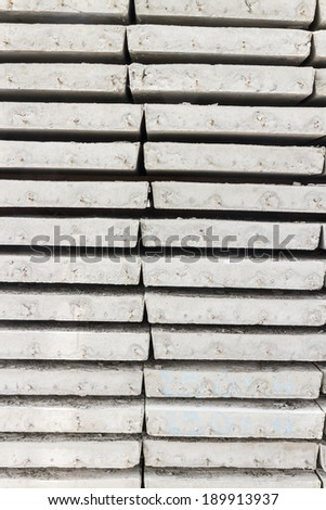 Stack of concrete building slab - stock photo