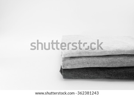 stack of cotton t-shirt  on isolate background  - stock photo