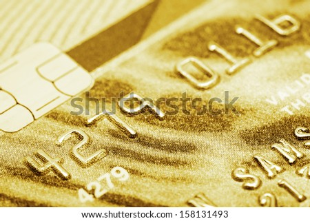 Stack of credit cards - stock photo