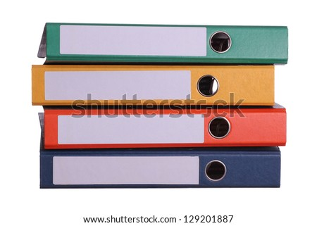 stack of four binder - stock photo