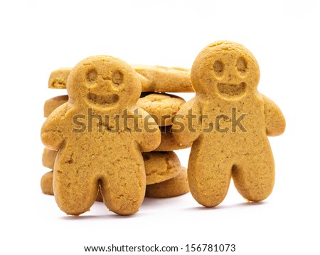Stack of Gingerbread cookies  - stock photo