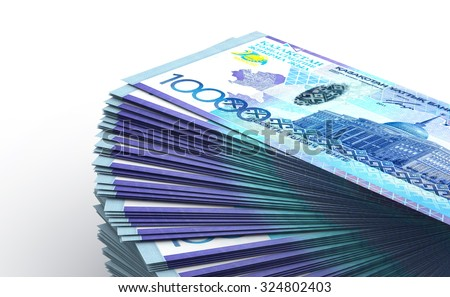 Stack of Kazakh Tenge - stock photo