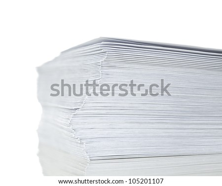 stack of mail envelopes isolated on white background - stock photo