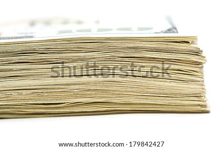 stack of money. macro - stock photo