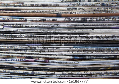 stack of newspaper - stock photo