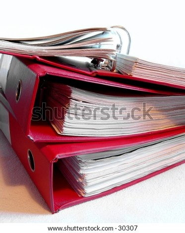 Stack of old binders - stock photo