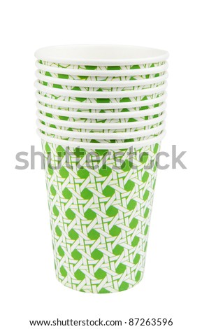 Stack of Paper Cups - stock photo
