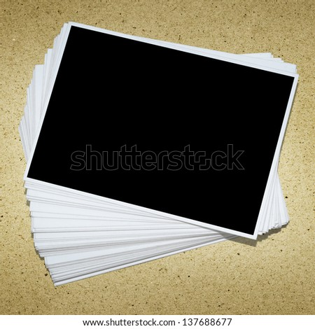 stack of photo frame include clipping path - stock photo