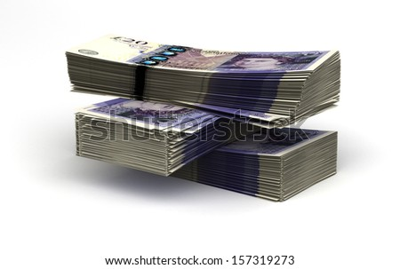 Stack of Pound - stock photo