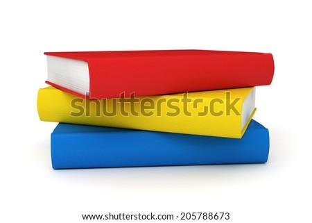 Stack of school books - stock photo
