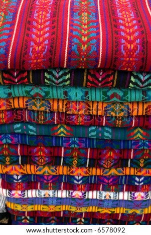 Stack of Shirts Mexico - stock photo
