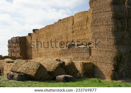 stack of straw - 2 - stock photo
