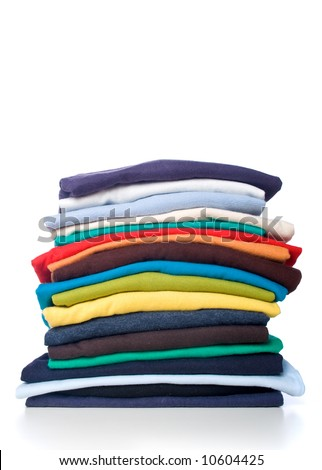 Stack of t-shirt - stock photo