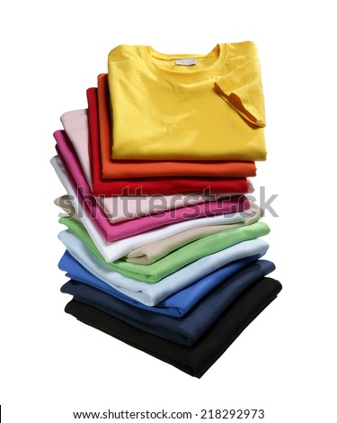 Stack of T-Shirts - stock photo